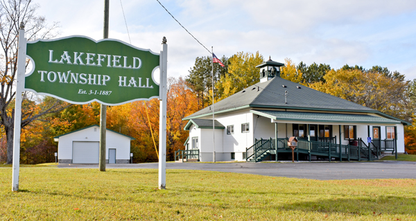 Lakefield Township Hall of Michigan, Luce County | Lakefield Township in the Upper Peninsula of Michigan